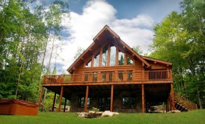 A chalet at the conference venue, Blueberry Lake Resort, about 90 minutes north-west of Montreal