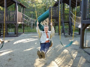 In the playground at Blueberry Lake,  the conference venue near Montreal, September 2015